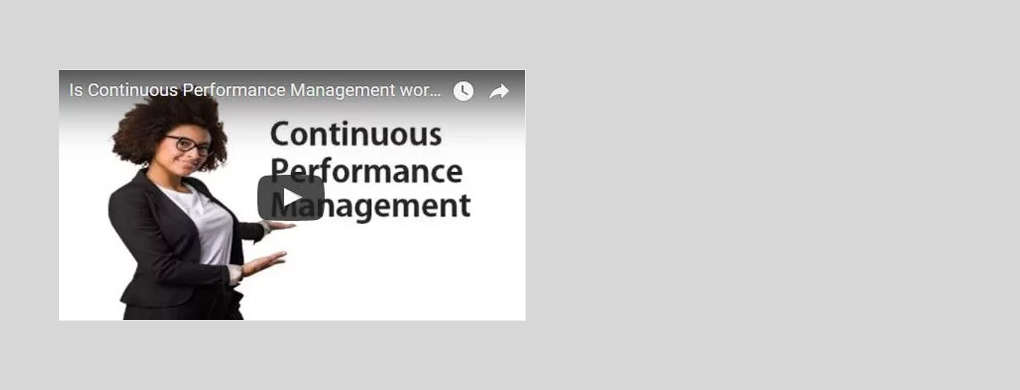 Is continuous performance management working?